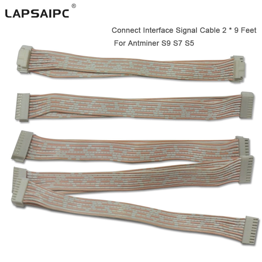 Lapsaipc Miner Connect Interface Signal Cable For Antminer S9 S7 T9 L3+ Antminer Machine Communication Spacing 2.0mm * 155mm