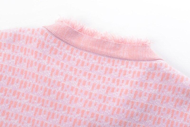 Bouton Élégant Unique Gruiiceen Pour Nouveau Gy201858 Cardigan Hiver Chandails Perles Col Femmes Manteau Automne Rond Poitrine EqddtRUw