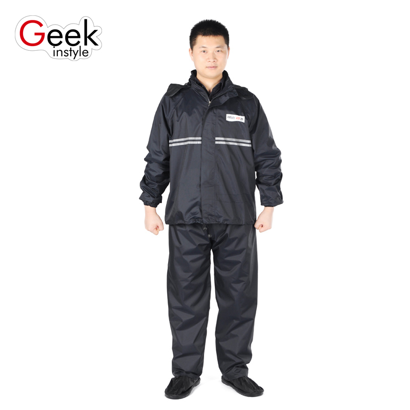 Adult riding split raincoat rain pants suit thickening Wind and rain without fear Standing outdoors in rainy days  benkia motorcycle rain jacket moto riding two piece raincoat suit motorcycle raincoat rain pants suit riding pantalon moto rc28