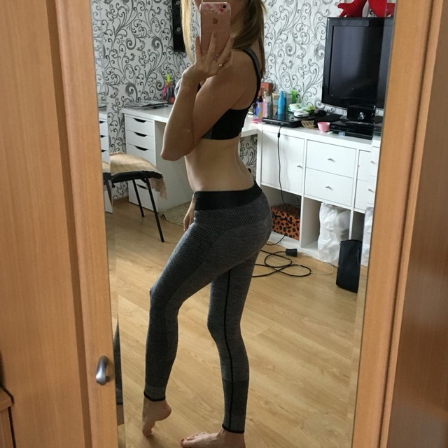 High Waisted Elastic Workout Leggings