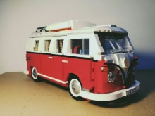 Lepin 21001 Creator series the Volkswagen T1 Camper Van Model Building Blocks classic Compatible Technic car Toys