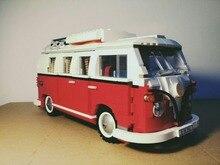 Lepin 21001 Creator series the Volkswagen T1 Camper Van Model Building Blocks classic Compatible Technic car Toys