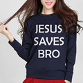 2017 brand clothing top harajuku tracksuit woman casual hoodies funny Jesus Saves Bro mma pink hiphop hoody fleece sweatshirts