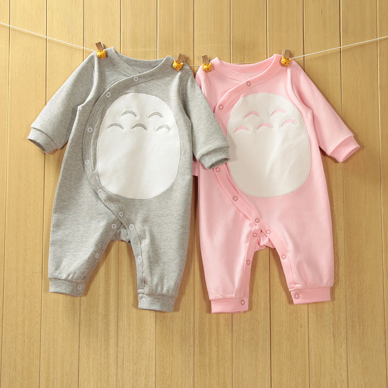 2018 High Quality Newborn Baby Romper Style Totoro Baby Spring Romper Soft Comfortable Breathe Freely 100% Cotton Free Shipping ...