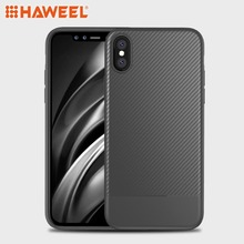 HAWEEL Carbon Fiber Texture TPU Case for iPhone X & XS iPhone XS MAX  iPhone XR Cover Shell Guard g case for iphone 7 leather skin plating tpu mobile back shell carbon fiber texture coffee