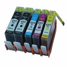 5 Pk Ink Cartridges Cartridge For HP HP655 655 XL HP655XL 655XL Deskjet Advantage 3525 4615 4625 5525 6520 6525 Inkjet Printer