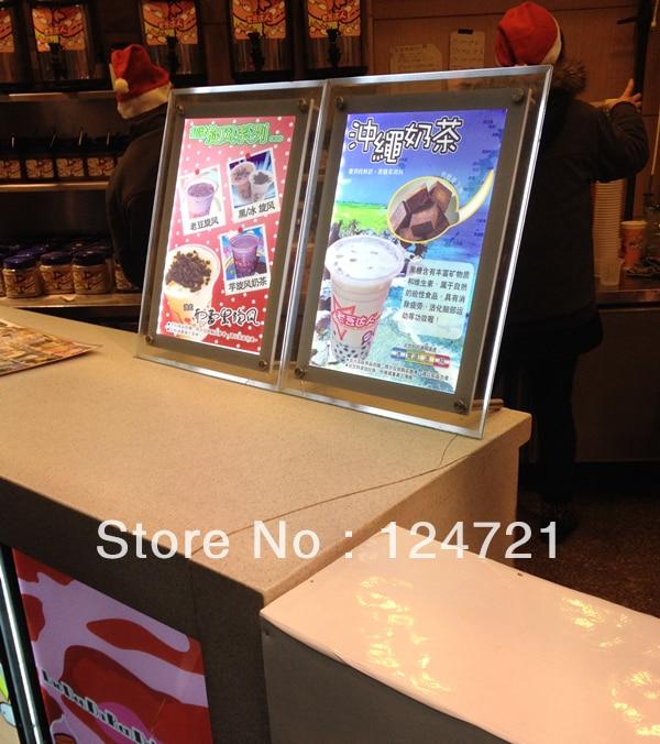 a3 levou caixa de luz do menu do restaurante placas publicidade sinal caixa de luz led