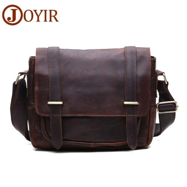 100% Genuine Leather Men Bags Crazy Horse Leather Men Shoulder Bags Messenger Bags Male Handbags