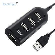 2019 High Speed 4 Port USB 2.0 Hub USB Port USB HUB Portable HUB USB Splitter for Macbook Air Laptop PC Tablet Dropshipping unitek y 3050bk usb 3 0 high speed expansion 4 port hub green