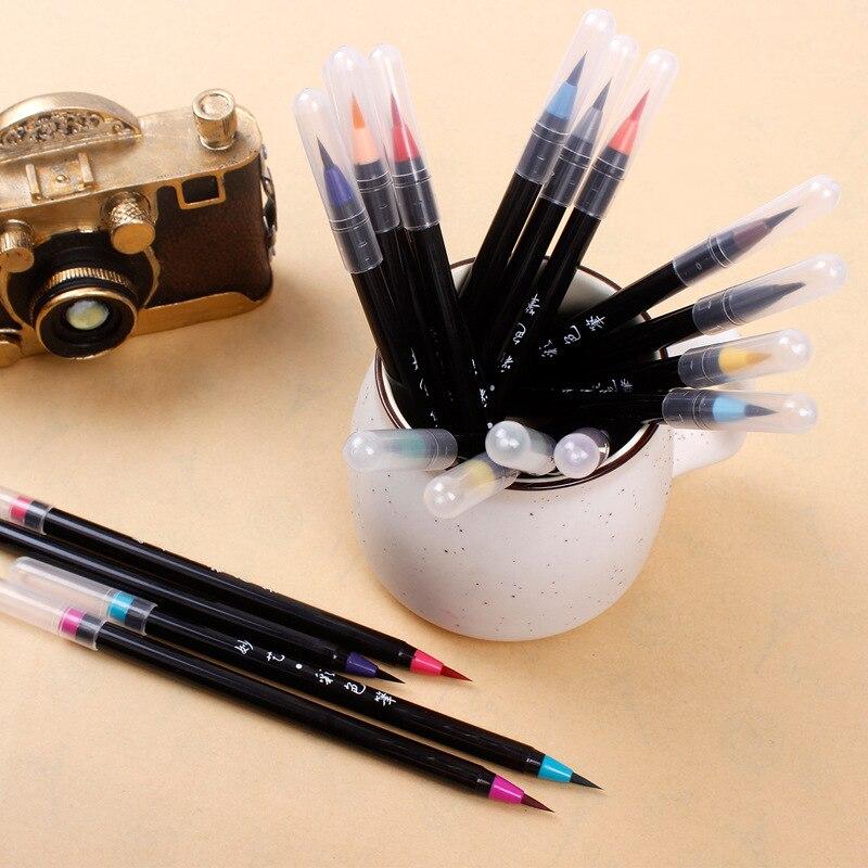 caneta de aquarela escova cabeca macia 01