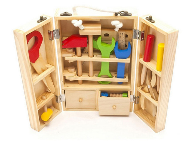Boys Toys Wooden Power Workshop Kit/carpenter Tools/garden Tool Kids Toys  Wooden Kits