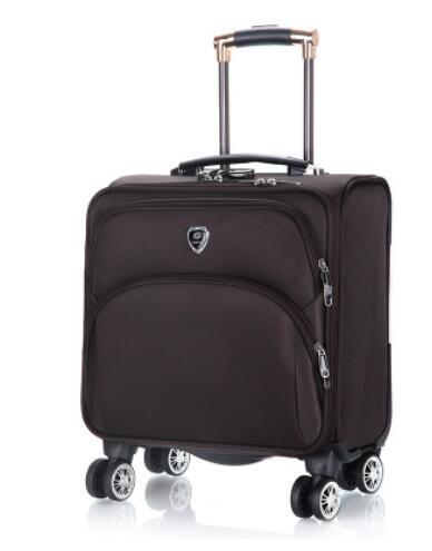 18 นิ้วผู้ชาย Spinner กระเป๋าเดินทางกระเป๋าเดินทาง Oxford Cabin Boarding กระเป๋าเดินทางกลิ้งกระเป๋าล้อเดินทาง Wheeled กระเป๋าเดินทาง-ใน กระเป๋าเดินทางแบบลาก จาก สัมภาระและกระเป๋า บน   3