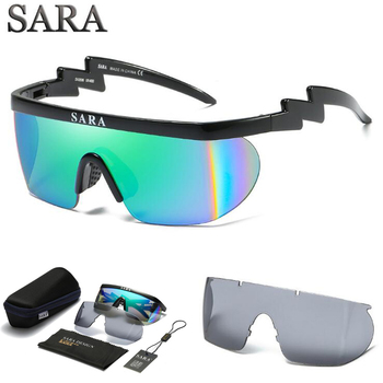 5627fd337eb Sara viento Gafas de sol mujeres hombres deportes gafas conducción Gafas de  sol 2 lente con antideslizante nariz gafas de sol feminino