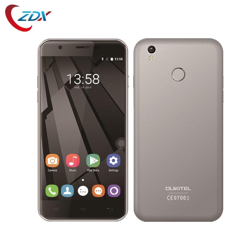 Цена за Oukitel U7 Плюс Смартфон Android 6.0 5.5 ''1280x720 MT6737 Quad Core 2 ГБ RAM 16 ГБ ROM 2500 мАч Отпечатков Пальцев 4 Г LTE Mobile телефон