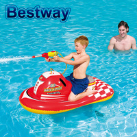 New Bestway Spray Gun Motorboat Swimming Ring Baby Kids Mounts Inflatable Water Toys Air Mattress Life Ring For Children