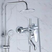 Ванная комната смеситель для душа смесители Ванна смеситель для душа система тропический Душ стойки с смеситель меди