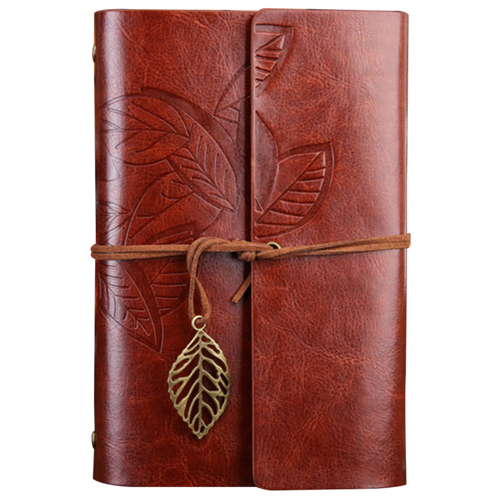 School Office Daily Notepad Blank Paper PU Leather Embossed Cover Gift Unlined Vintage Diary Book Pendant String Loose LeafSchool Office Daily Notepad Blank Paper PU Leather Embossed Cover Gift Unlined Vintage Diary Book Pendant String Loose Leaf