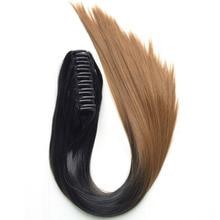 DELICE Длинные прямые когти хвостики Ombre Color Термостойкие синтетические волосы Pony Tails