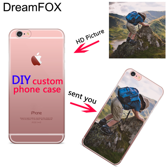 DREAMFOX Custom DIY Design Case for iPhone 4 5 5C 5S SE 6 S 7 8 Plus X Soft Silicon TPU Cover Customized Printed Mobile Phone