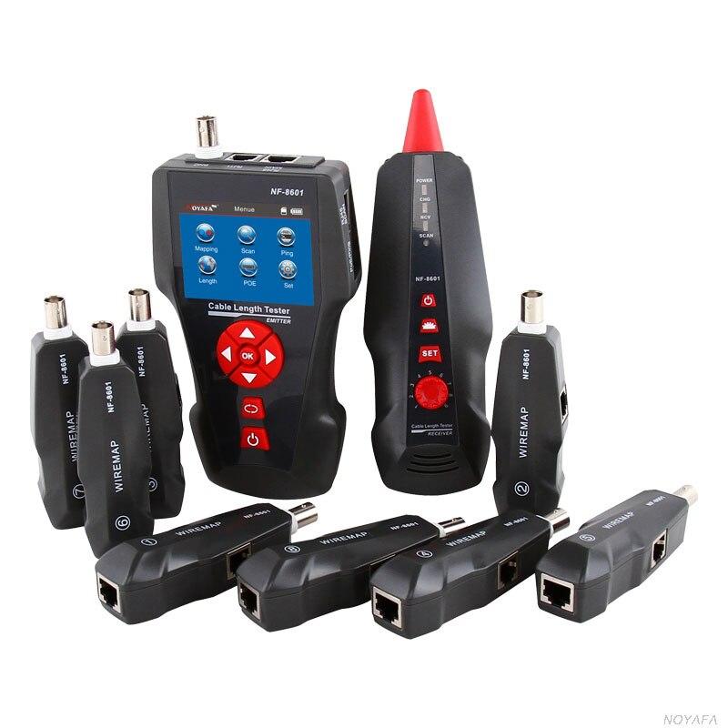 Noyafa NF-8601W Multi-fonctionnelle Câble Réseau Testeur LCD Câble longueur Testeur Breakpoint Tester Pour RJ45, RJ11, BNC, PING/POE