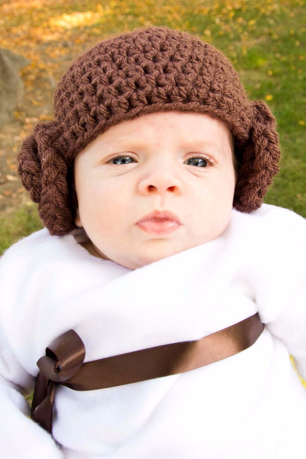 Princess Leia Inspired Hat/ Crochet Princess Leia Wig Hat Available in Newborn to Child Size- MADE TO ORDER