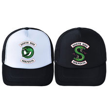 2019 Riverdale South Side Serpents Adult Cosplay Trucker Cap Archie Baseball Hat Cap Summer Riverdale Embroidery Hat Breathable(China)
