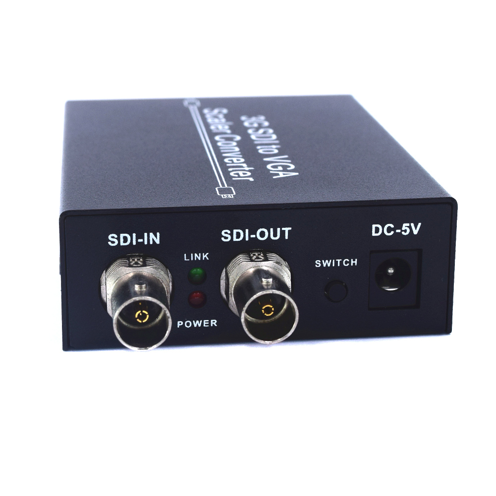 3G SDI to VGA +SDI Scaler Converter 3G HD SD 2.97Gbps Loop Output LCC773G SDI to VGA +SDI Scaler Converter 3G HD SD 2.97Gbps Loop Output LCC77