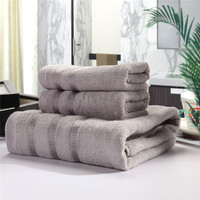 Enipate 2+1 Cotton Bamboo Fiber Towels Bath Towel Beach Jacquard Towel Set Soft and Fluffy Gift Set Bathsheet Hotel 3Colors