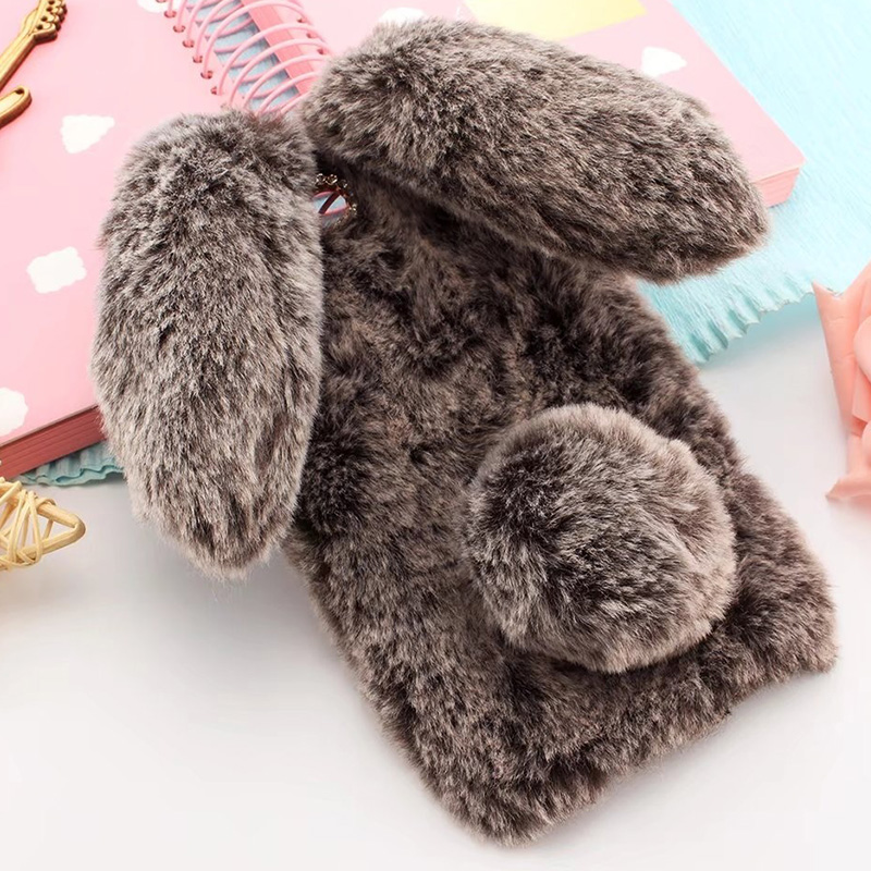 Plush Bunny <font><b>Case</b></font> for <font><b>OPPO</b></font> F5 F7 F1 F3 Plus F1S <font><b>Find</b></font> <font><b>7</b></font> <font><b>Find</b></font> 9 Soft Fur Cute 3D Rabbit Ears TPU Diamond Phone Back <font><b>Case</b></font> Cover image