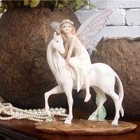 Европейский Цветочная фея для верховой езды красивый ангел украшения домашнего интерьера ювелирные свадебный подарок на день рождения для...