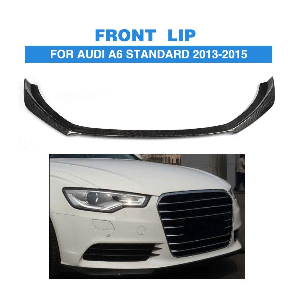 Carbon Fiber Front Bumper Diffuser Lip Spoiler For Audi A6