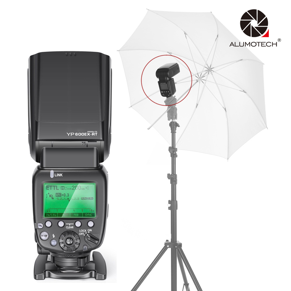 ALUMOTECH for YouPro TTL&GN60 1/8000S For Canon Camera 2.4GHz Wireless HSS Flash Speedlite youpro pro 6c 2 4g wireless e ttl flash trigger 1 8000s hss transmitter receiver shutter release for canon eos dslr camera