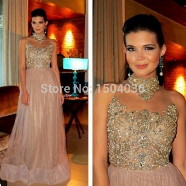 2015-Free-Shipping-New-Arrival-A-Line-High-Neck-Gold-Beaded-Applique-Organza-Evening-Dress-Prom.jpg