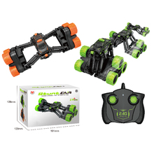RC Retractable Stunt Car 2.4G Telescopic Remote Control Tumbling Transformation Vehicle 360 Degree Rotating Cool Kids Toys