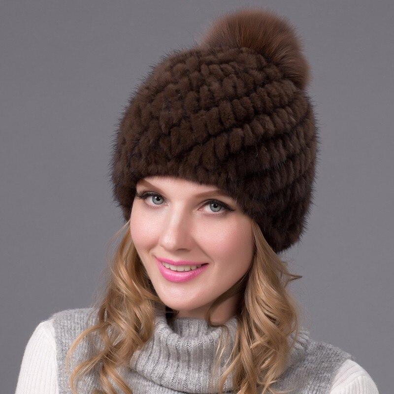 2016 femmes hiver chapeau en cuir naturel nouveaux hauts femme ananas chapeau femme hiver fourrure chapeaux véritable vison