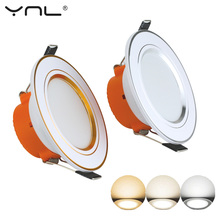 LED Down light Changeable Led 3W Ceiling Recessed Light With Driver 3 Color Change Warm White Nature Cool