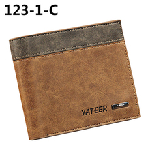 Men's Faux Leather Wallet ID Credit Card Holder Money Purse Clutch Pocket Gift
