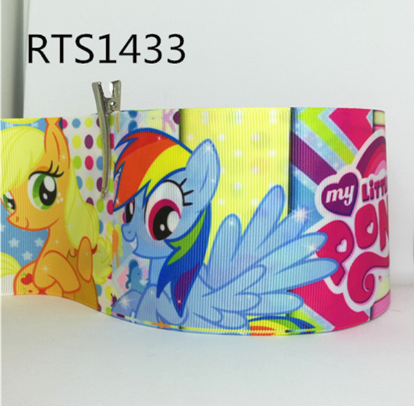 Free shipping 50yard roll 3 inch 75mm cartoon printed grosgrain ribbon RTS1433