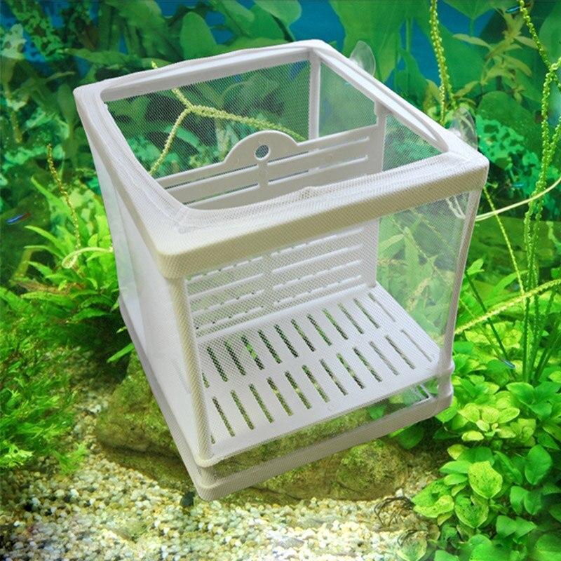 Для разведения рыб в аквариуме ящик для заводчиков рыбный инкубатор изоляции Net Fish Tank инкубатор ящик висит аксессуары для аквариума поставк...