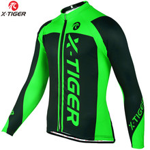 X-Tiger Winter Fietsen Kleding Mountain Fiets Wear Maillot Ropa Ciclismo Invierno Thermische Fleece Mtb Fiets Wielertrui(China)
