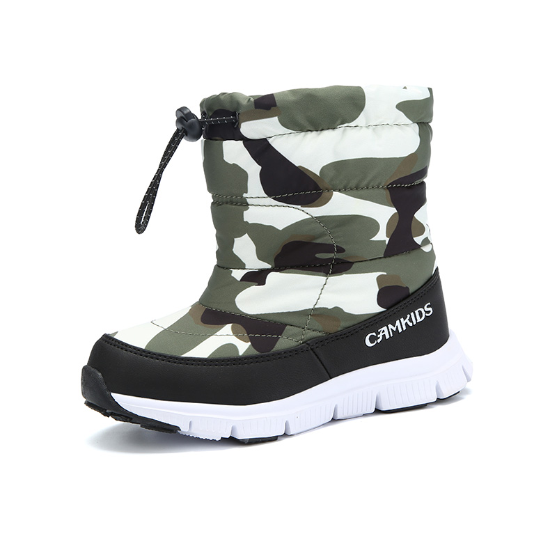 Children's snow boots winter waterproof boy boots warm snow boots baby girl high boots,snow boots 2 to 6 years old цена