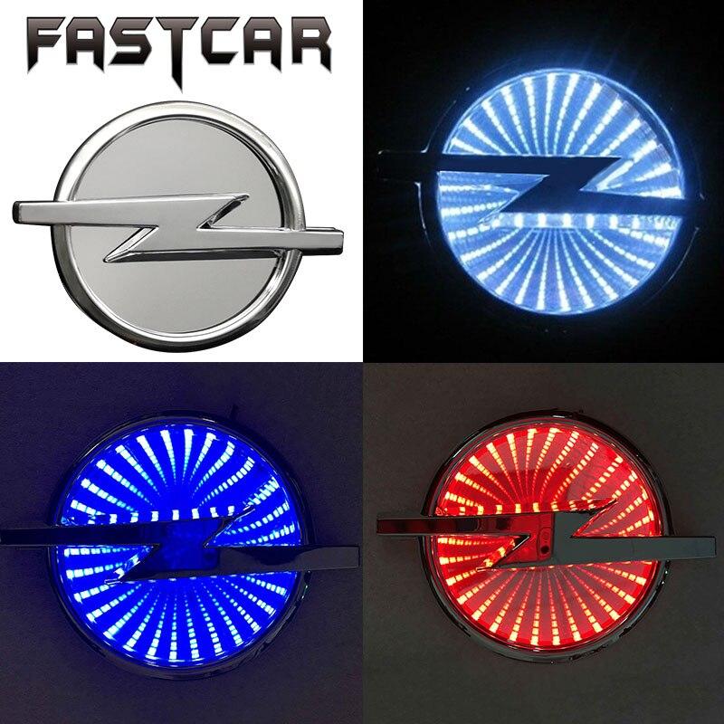 1шт Водонепроницаемый знак 3D автомобиля Сид свет авто логотип свет эмблема автомобиля для OPEL 133мм х 101 мм белый красный синий DC 12 В