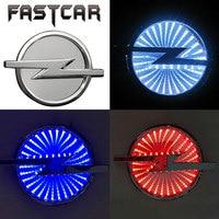 Waterdichte 3D Auto Badge Led Licht Auto Logo Lichten Auto embleem voor Opel 133mm X 101mm Wit Rood Blauw DC 12 V