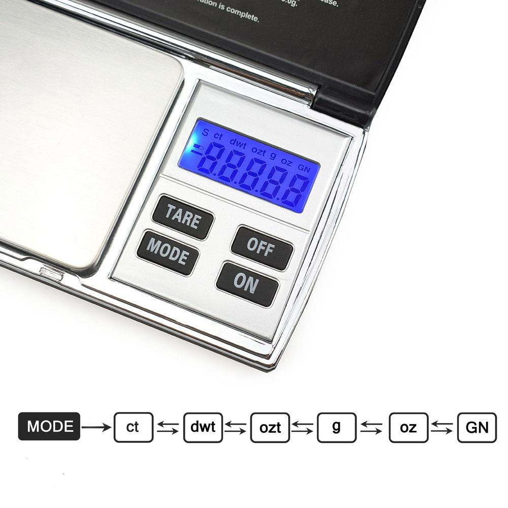 NEWACALOX 500g x 0.01g Básculas digitales de precisión para joyas - Instrumentos de medición - foto 3