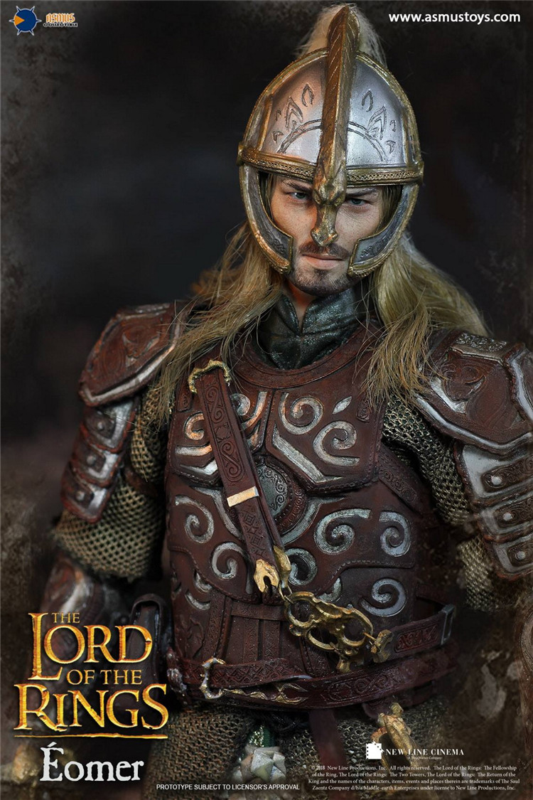 """Asmus Toys LOTR011 1//6 The Lord of the Rings Eomer 12/"""" Action Figure Calf Armor"""