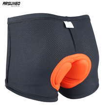 ARSUXEO Unsex Cycling Underwear Bike Bicycle Mountain MTB Shorts Underwear Compression Tights Shorts 3D padded 001