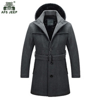 Size S 4XL 2015 Fashion Brand Winter Mens Jackets Coats Mens Winter Clothes Long Men Wool