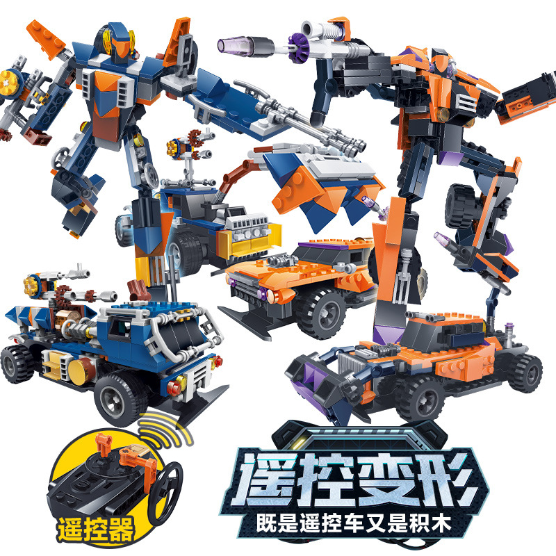 2017 Kazi city car remote control deformation robot Building Block Sets Model Enlighten Educational DIY Construction Bricks toys new original kazi 6409 city truck model building blocks sets 163pcs lot deformation car bricks toys christmas gift toy sa614