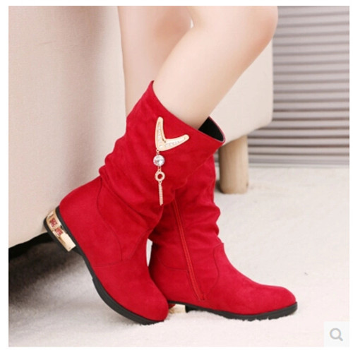 ФОТО new 2016 children shoes children's boots boot girls boots girls baby shoes Free Shipping Fashion Trend Black Red Blue 1-892