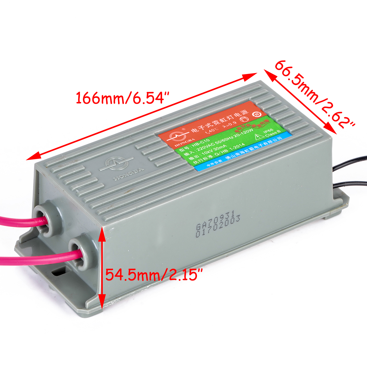 HB-C10 Electronic Transformer Neon Power Supply Rectifier 10KV 30mA 50/60Hz 20-120W with 10.5 inches Length Wire raphaelite 120w pre amp power transformer for tube amplifier rectifier